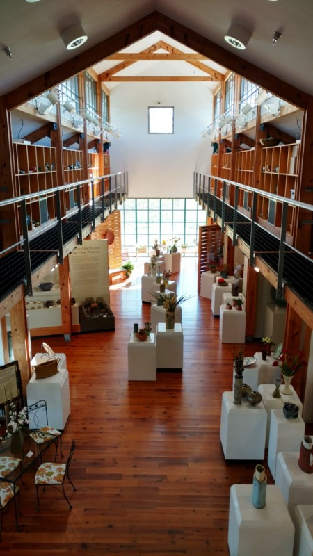 Interior view of the North Carolina Pottery Center