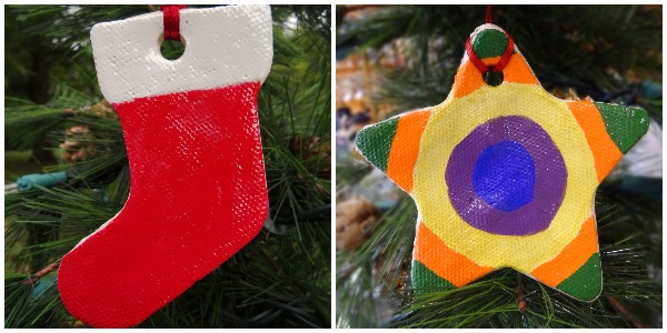 Photo of Stocking and Star Ornaments Hanging in a Treet